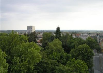 Pogled na grad Bjelovar sa 32 metra visine